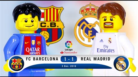 Custom Fc Real Madrid 004 lego fc barcelona 1 1 real madrid laliga 2016 2017