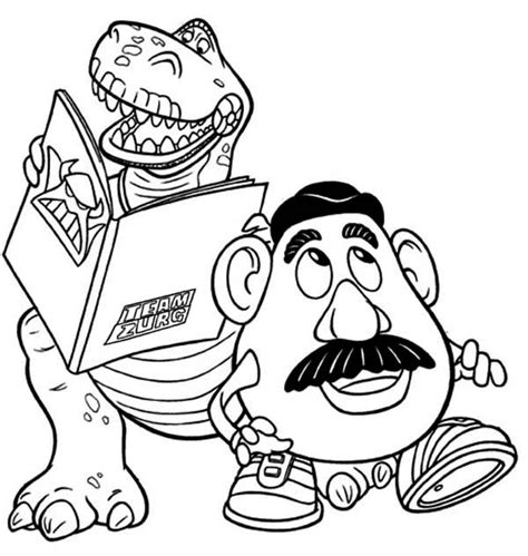 potato head toy story colouring pages 2