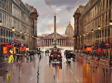 Imagenes Urbanas Abstractas | im 225 genes arte pinturas paisajes de ciudades parisinas