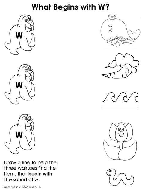 kidzone worksheets draw a line beginning consonant worksheets