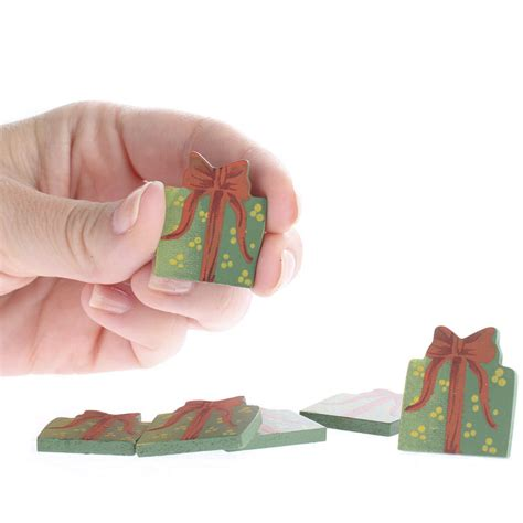 small christmas gift box wood cutouts on sale craft