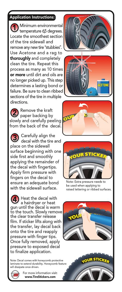 peel  stick tire stickers instructions application guide tire stickers