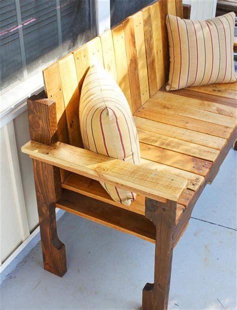 diy porch bench diy pallet farmhouse bench front porch bench 101 pallets