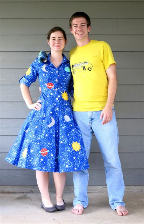 couples  frizzle   magic school bus costumes
