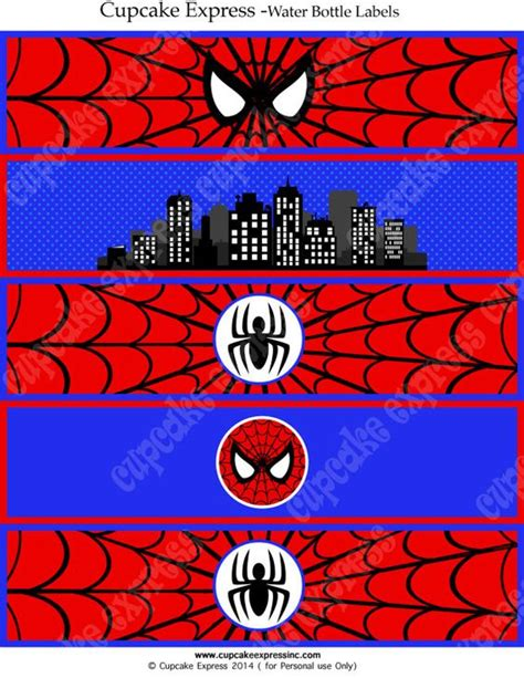 printable spiderman party decorations spiderman instant printable water bottle labels birthday