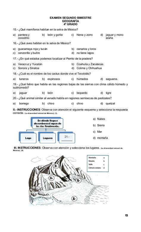 examen de 5 grado bloque 4 con respuestas cuestionario de historia de 5to grado bloque iv plan 5to