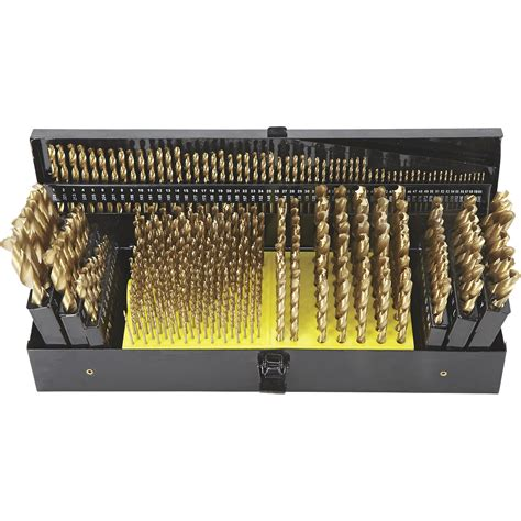 Drill Bit Set free shipping ironton titanium drill bit set 327 pc