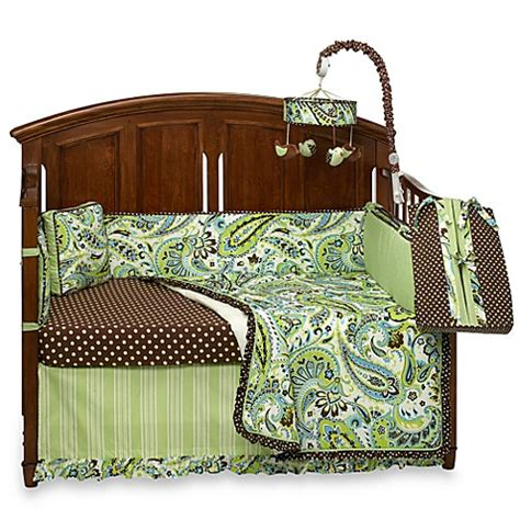 Paisley Baby Crib Bedding My Baby Sam Paisley Splash In Lime Crib Bedding And Accessories Bed Bath Beyond