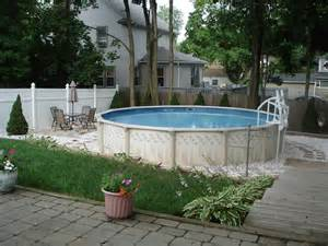 Backyard Ideas With Above Ground Pool Backyard Patio Ideas With Above Ground Pool Designs Landscaping Gardening Ideas