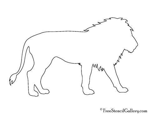 lion silhouette 02 stencil free stencil gallery