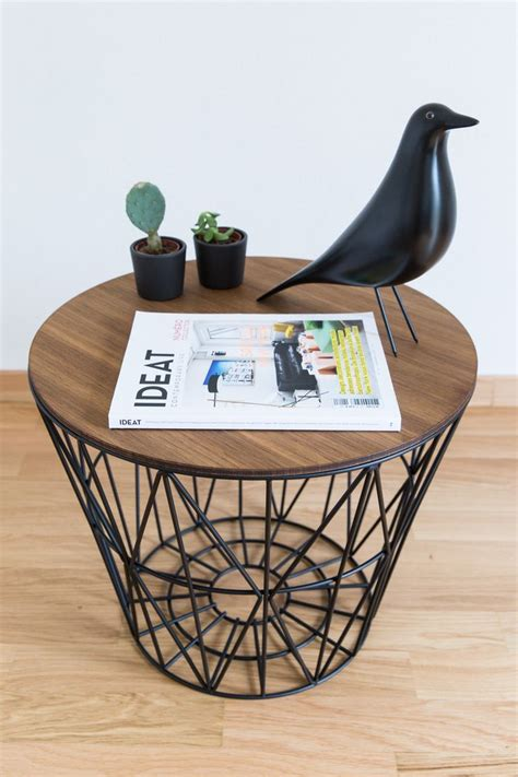 wire basket side table ferm living wire basket as a side table 70percentpure x