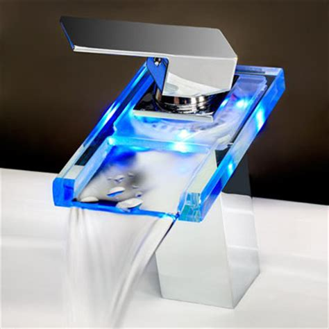 Cool Temperature Sensitive Led Lavatory Faucet With Single Led Bathroom Faucet