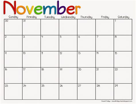printable calendar november 2015 free best photos of preschool calendar november 2015 november