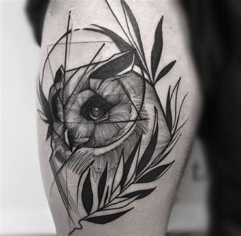 owl tattoo dotwork 60 owl tattoo design ideas with watercolor dotwork and
