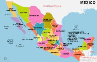 united states of mexico map mexico states map states map of mexico mexico country