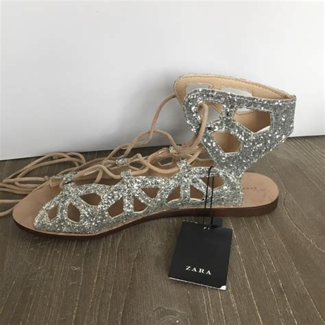glitter sandals zara zara brand new zara glitter gladiator sandals from