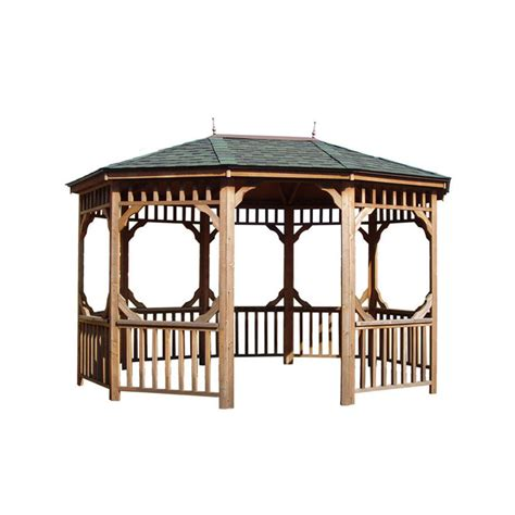 lowes gazebo shop heartland bayview 10 x 14 oval gazebo without floor