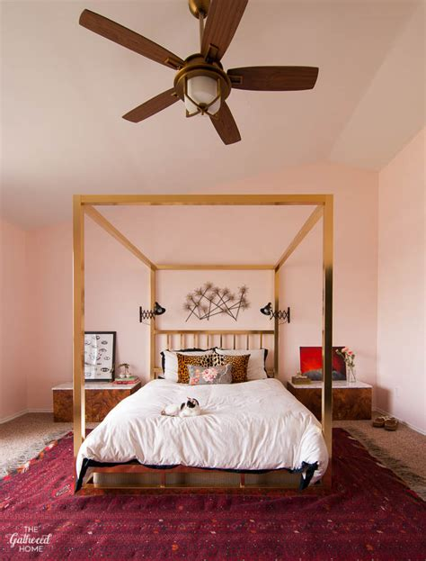 pink master bedroom open house home tour the gathered home