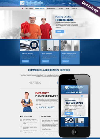 Plumbing And Heating Websites by Heating And Plumbing Responsive Website Template