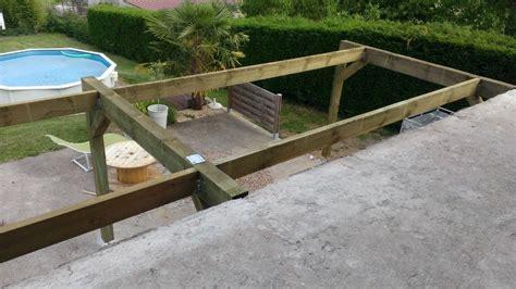 Extension Terrasse Beton by Extension En Bois D Un Balcon B 233 Ton Roanne Loire