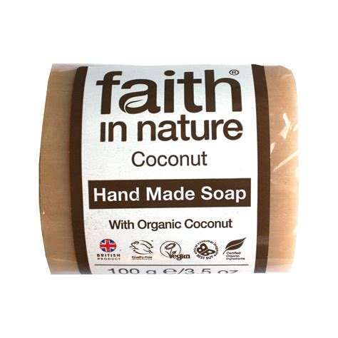 Coconut Soap 100g faith in nature soap coconut 100g forest whole foods