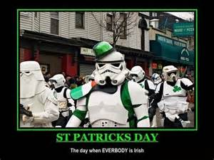 Funny St Patrick Day Meme - celebrating st patricks day with cats star wars yoga
