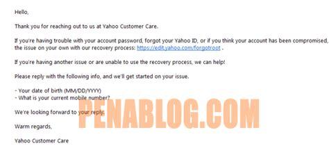 email yahoo tiba tiba hilang cara reset password email yahoo tanpa no hp dan email