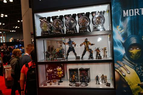 mortal kombat x bobbleheads nycc 2015 mezco mortal kombat x display the toyark news