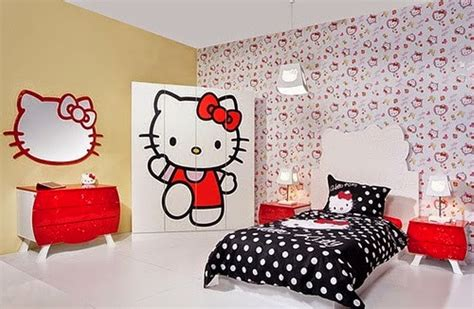 wallpaper dinding kamar anak hello kitty gambar wallpaper dinding hello kitty untuk ruang tamu dan