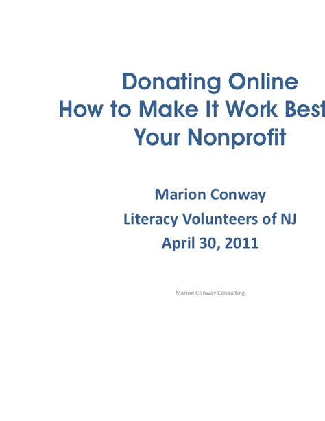 how to make lwork donating how to make it work for your nonprofit 4 11