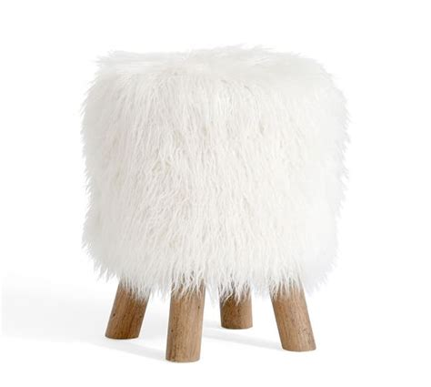 Pottery Barn Faux Fur Stool mongolian faux fur stool pottery barn
