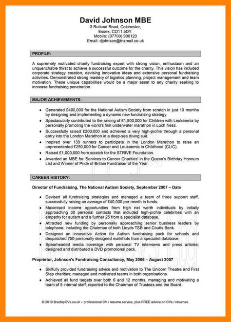 personal profile format resume templates personal profile format in exle of on cv twenty hueandi co sle