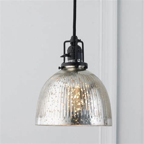 ribbed dome mercury glass shade pendant light l