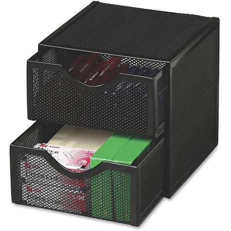 Metal Desk Accessories Cube Organizer W Drawers Mesh Steel Black Rol9e5600bla