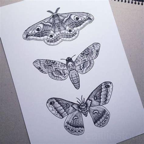 25 simple moth tattoos