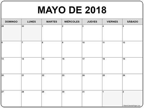 Calendario M Ayo Mayo De 2018 Calendario Gratis
