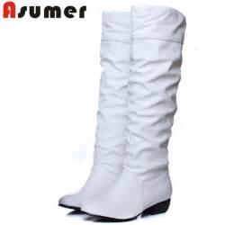 Women boots black white brown flat heels half boots autumn winter snow