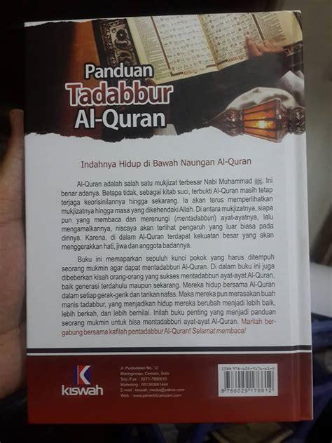 Wasiat Rasul Kepada Pembaca Penghafal Al Quran Al Q Diskon buku panduan tadabbur al quran toko muslim title