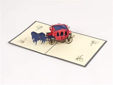 Origami Carriage - popz carriage paperpopcards paperpopshop