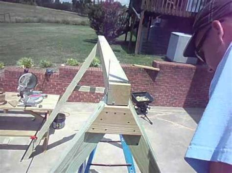 how to build a frame for a swing how to build an quot a quot frame for a porch swing chapter 3