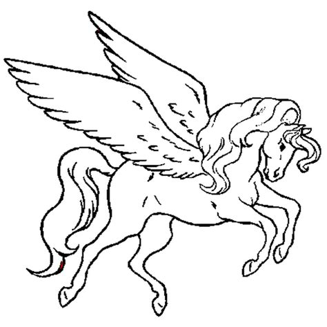 coloring pages of flying horse cheval volant coloriage cheval volant en ligne gratuit a