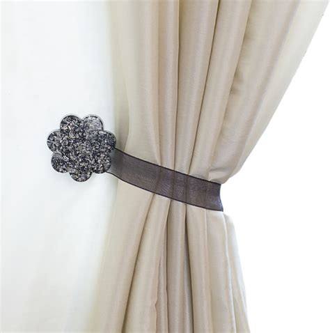 drapery hold backs curtain clips tiebacks or holdbacks set of 2 fiore