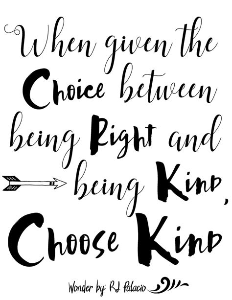 printable quotes from wonder choose kind with wonder the movie free printable the