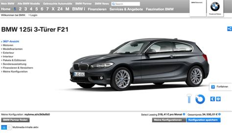 Bmw 1er 2015 Preisliste by Bmw 1er Facelift 2015 F20 Lci Im Konfigurator Auf Bmw At