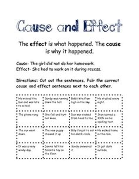 Definition Of Cause And Effect Essay by 1000 Images About Cause And Effect On Cause And Effect Cause And Effect Activities
