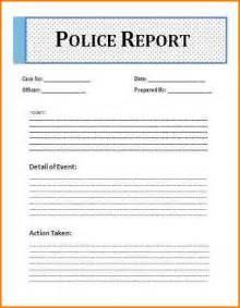 4 police report form writable calendar