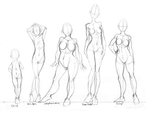 Drawing Bodies by Shapes Practice By Tabbykat On Deviantart