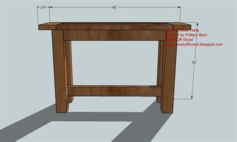 Console Table Plans by Console Table Woodworking Plans Woodshop Plans