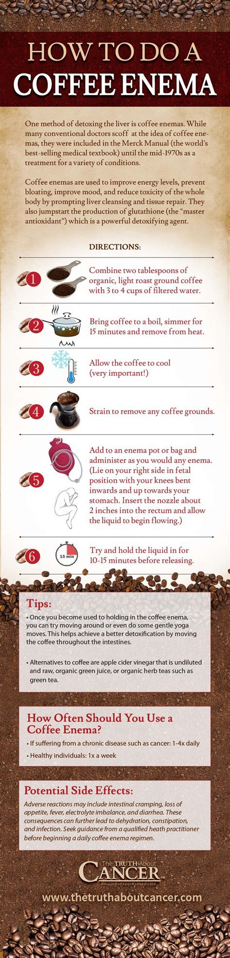 How Does A Coffee Detox The Liver by How To Use Coffee To Detoxify Heal From Cancer
