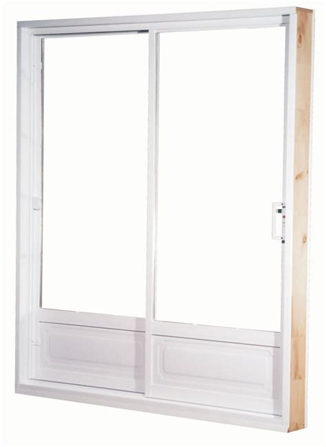 60 Patio Door Farley Windows 60 Inch X 82 Inch Low E Lefthand Garden Panel Vinyl Patio Door The Home Depot